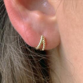 Jasmine hoop earrings
