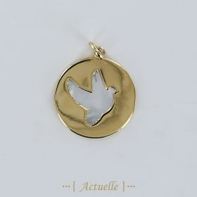 Mother of pearl swallow pendant