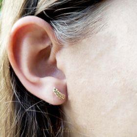 Lightweight leaf stud earrings