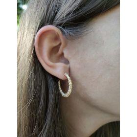 Textured ball hoop earrings