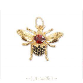 Colgante abeja roja y negra